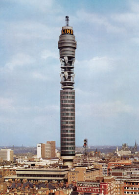 London's Landmark. The Post Office Tower (now the BT Tower) under construction by Peter Lind & Company in 1964.